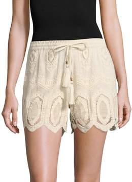 Love Sam Women's Geo Tile Embroidered Short