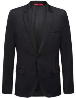 HUGO Boss Wool Sport Coat, Extra Slim Fit Arti 42R Black