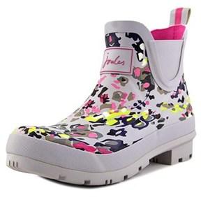 Joules Wellibob Women Round Toe Synthetic Gray Rain Boot.
