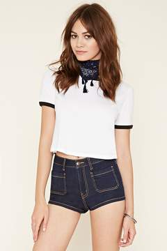 Forever 21 Patch Pocket Denim Shorts