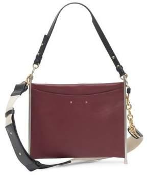 Chloé Roy Canvas Strap Grained Leather Bag