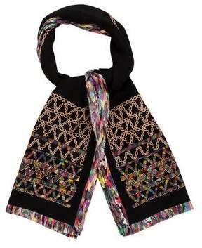 Dries Van Noten Embroidered Silk-Blend Scarf