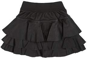 Little Remix Ruffle Layered Leather Skirt