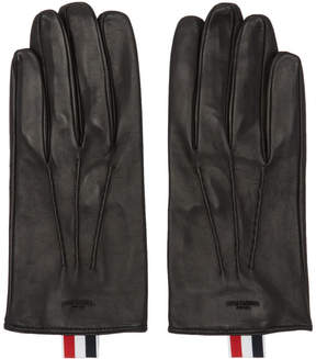 Thom Browne Black Short Unlined Gloves