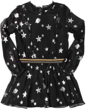 Zadig & Voltaire Metallic Stars Silk Voile Dress