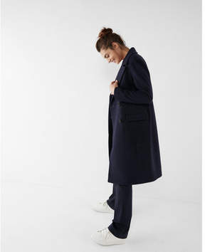 Express boxy double breasted coat