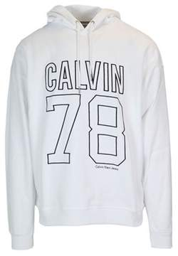 Calvin Klein Jeans Men's White Cotton Sweatshirt.