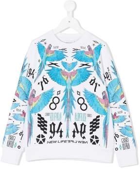 Marcelo Burlon County of Milan Kids parrot print sweatshirt