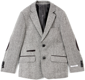 Isaac Mizrahi Gray Solid Tweed Blazer - Boys
