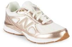 New Balance Kid's 990 Metallic Accent Sneakers