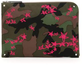 Valentino Camouflage Document Case