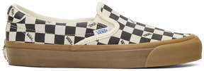 Vans Black and Off-White OG Checkerboard Slip-On Sneakers