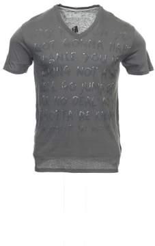Converse Men's Gray Graphic V-Neck T-Shirt