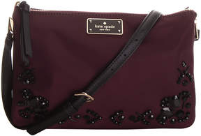 Kate Spade Deep Plum Embellished Madelyne Wilson Road Crossbody Bag