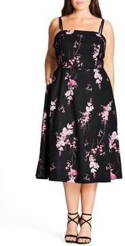 City Chic Plus Size Women's Holiday Romance Sundress