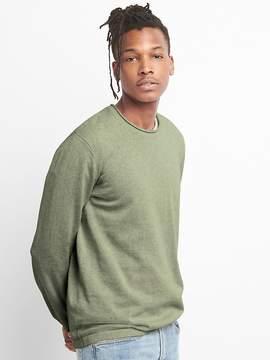 Gap Pullover Crewneck Sweater in Linen