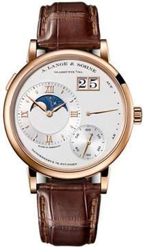 A. Lange & Söhne Grand Lange 1 Moonphase 139.032 18K Rose Gold Silver Dial 41mm Mens Watch