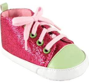 Luvable Friends Baby Girl Sparkly Sneakers