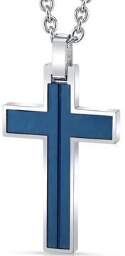 Ice Men's Arctic Blue Stainless Steel Cross Pendant Necklace