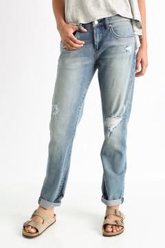 Blank Ripped Light Denim Boyfriend Jeans