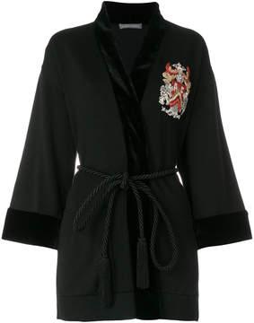 Alberta Ferretti embroidered belted cardigan