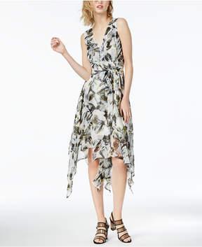 Bar III Printed Asymmetrical Dress, Created for Macy's