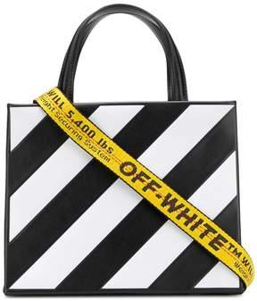 Off-White small striped tote bag