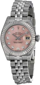Rolex Lady Datejust 26 Pink With 10 Diamonds Dial Stainless Steel Jubilee Bracelet Automatic Watch 179174PDJ