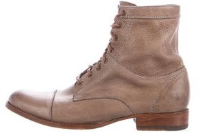 Frye Leather Lace-Up Ankle Boots