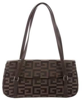 Givenchy Leather-Trimmed Monogram Shoulder Bag