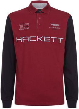 Hackett Aston Martin Racing Long Sleeve Polo Shirt