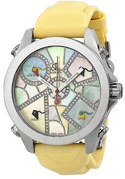 Jacob & co Jacob and Company Five Time Zone Diamond Multi-Colored Pastel Dial Unisex Watch