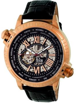 Reign Thanos Collection Men's Automatic Leather and Stainless Steel Watch
