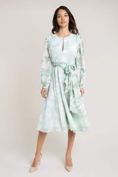 Nandita Duck Egg Green Shadow Midi Dress