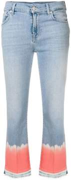 7 For All Mankind contrast cuff jeans