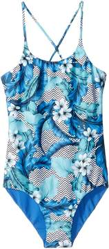 Seafolly Jungle Geo Reversible Tank One-Piece Girl's Swimsuits One Piece
