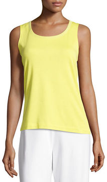 Joan Vass Scoop-Neck Cotton Interlock Tunic/Tank
