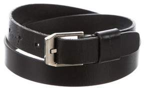 Saint Laurent Leather Buckle Belt