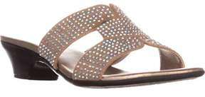 Karen Scott Ks35 Esmayy Low Wedge Sandals, Taupe.