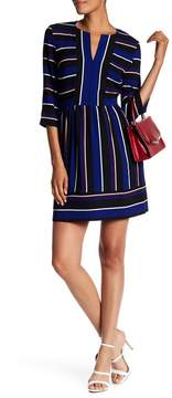 Charles Henry Stripe Mini Dress