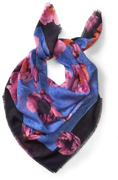 Banana Republic Vibrant Floral Large Sheer Square Scarf