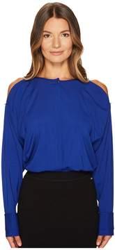 Escada Sport Naly Cold Shoulder Long Sleeve Top Women's Clothing