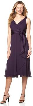 Chaps Women's Surplice Empire Evening Dress