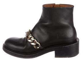 Givenchy 2017 Laura Chain-Link Leather Ankle Boots