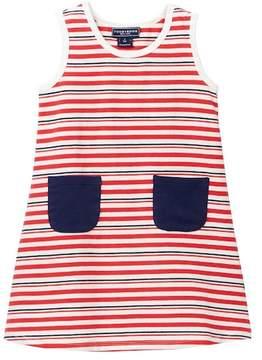 Toobydoo Rouge Bleu Striped Tank Dress (Baby & Toddler Girls)