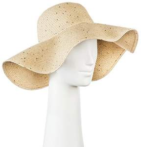 Merona Women's Floppy Straw Hat Light Tan with Sequins