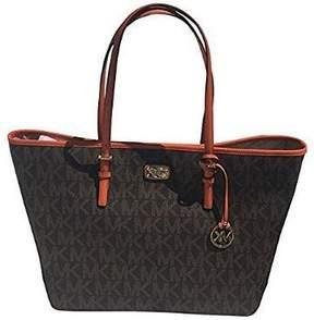 Michael Kors New Jet Set Travel Brown Signature Large Carryall Tote Handbag - ONE COLOR - STYLE