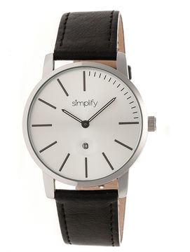 Simplify The 4700 Unisex Black Strap Watch-Sim4701