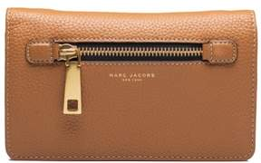 Marc Jacobs Women's Leather 'Gotham' Cross Body Clutch Brown - BROWN - STYLE
