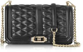 Rebecca Minkoff Black Quilted Leather Love Crossbody Bag - BLACK - STYLE